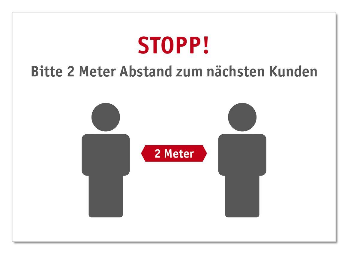 """Plakat Infoschild A1 A2 /""""Bitte Abstand halten und Mund-Nasen-Schutz tragen/"""""""