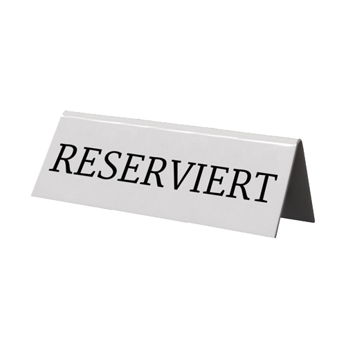 Table Top Reserved Sign