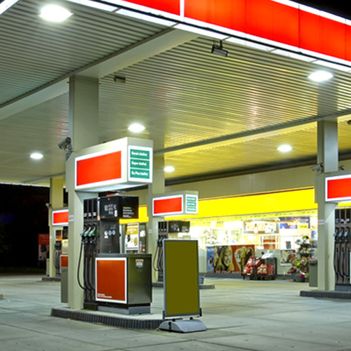 Sales Promotion & Shop Fittings for Petrol Stations