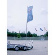 Fahne für teleskopischen Mast