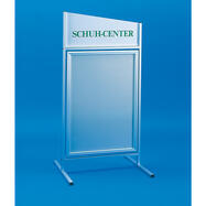 Swinging Poster Stand in Aluminium