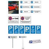 Parking and Stopping Signs of aluminium