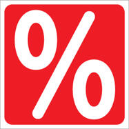 Sticker Percentage Sign, square