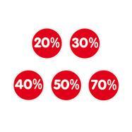 """Aufkleber """"Prozente"""", verschiedene Reduzierungen"""
