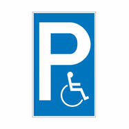 Parkplatz- und Halteverbotsschilder aus Kunststoff