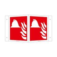 Mittel und Geräte zur Brandbekämpfung Winkelschild