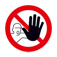Interdito o acesso não autorizado (sinal redondo)