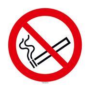 Rauchen verboten Schild rund