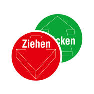 Ziehen / Drücken Piktogramm mit Pfeil