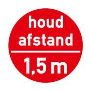 """Vloersticker """"Houd afstand - 1,5 m"""