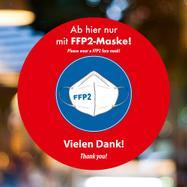 "Raamfolie ""FFP2-Maske tragen"""