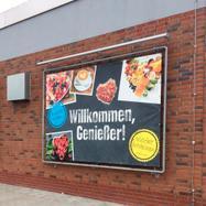 "Bannerrahmen-Stecksystem Stahl ""Wall"" feuerverzinkt inkl. PVC Frontlit Banner"