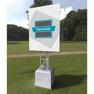 "Bautafel-Aufsteller Traverstar Outdoor ""Fascia"""