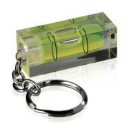 Wasserwaage mit Schlüsselanhänger, grüne Röhrenlibelle