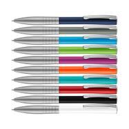 """Metall-Druckkugelschreiber """"Raise"""" mit farbigem Schaft"""