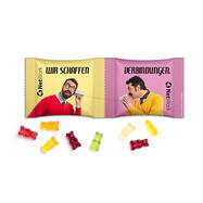 "Fruitgums reclamezakjes ""two in a row"""