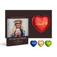Promotion Card with Lindt Chocolate Heart, 20 g