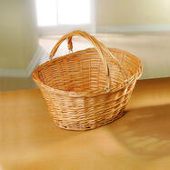 Solid Willow Shopping Basket