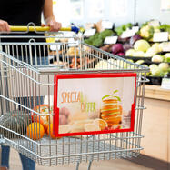 Плакатна рамка за количка за пазаруване