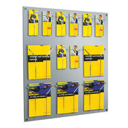 Multiple Section Hanging Leaflet Holder