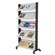 A4 Leaflet Stand on Wheels