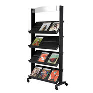 A4 Mobile Leaflet Stand with Castors