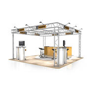 Messestand FD 32, 4.000 mm x 2.500 mm x 4.000 mm (B x H x T)