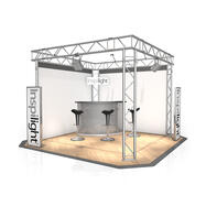 Exhibition Stand FD 32, 3000 mm x 2500 mm x 3000 mm (W x H x D)