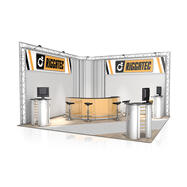 Messestand FD 23, 4700 mm x 3000 mm x 4700 mm (B x H x T)