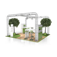 Messestand FD 23, 4000 mm x 2500 mm x 4000 mm ( B x H x T)