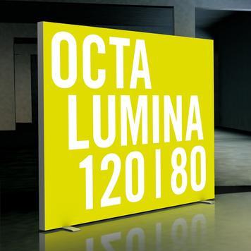 """LED Leuchtwand """"Octalumina 120"""" freistehend"""