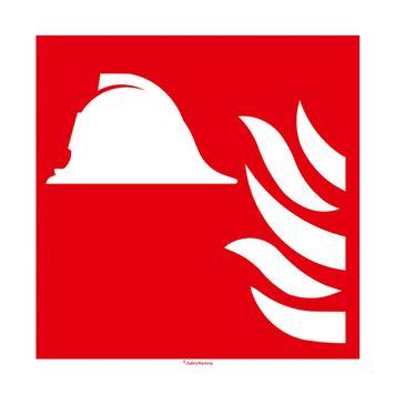 Mittel und Geräte zur Brandbekämpfung Schild