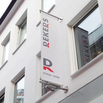 """Digitaldruckbanner für Werbesystem """"Inox"""""""