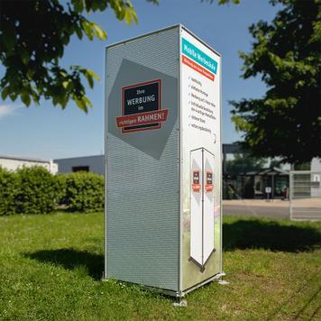 Mobile Werbesäule für Schilder