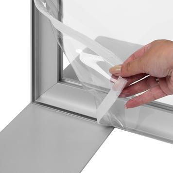 Glasklares Banner inkl. 4c-Druck für Aluminium Stretchframe