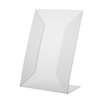 L-Ständer aus Hart-PVC, DIN A4 oder A5, hoch oder quer verwendbar