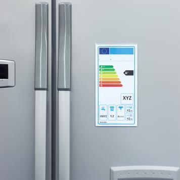 Schutzhülle für Energielabel mit Magnetstreifen
