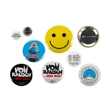Button in verschiedenen Größen