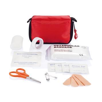 Erste Hilfe Set in roter Tasche mit Gürtelschlaufe