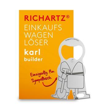 """Einkaufswagenlöser """"Karl Bauarbeiter"""""""