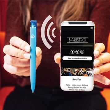 """Druckkugelschreiber """"Trinity GUM NFC"""" mit eingebautem NFC TAG"""