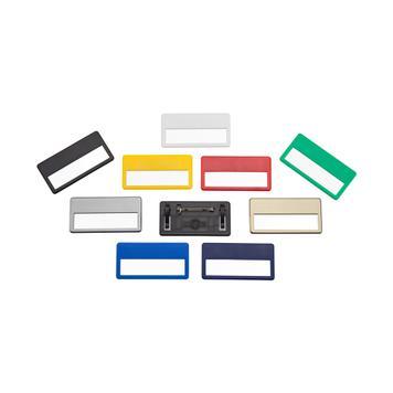 Kunststoff-Namensschild mit Broschennadel