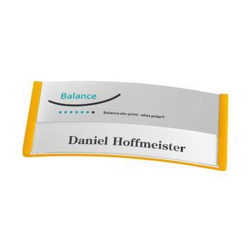 "Namensschild ""Balance Alu-Print"" inkl. Drucknebenkosten"