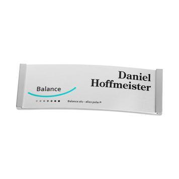 """Namensschild """"Balance Alu-Complete"""" inkl. Drucknebenkosten"""