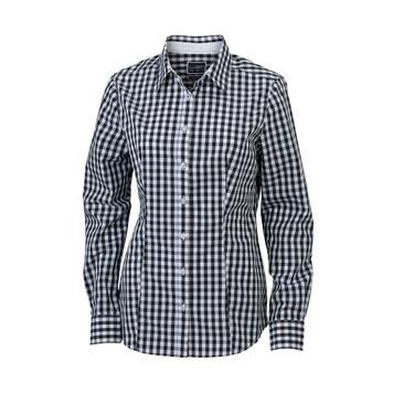 modische Karo-Bluse
