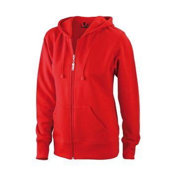 Ladie's Hooded Jacket, Kapuzenjacke mit Kängurutasche für Damen