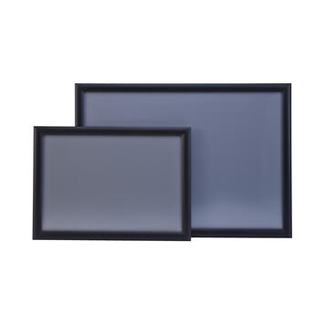 Klapprahmen, 25 mm Profil, schwarz eloxiert, Gehrungsecken