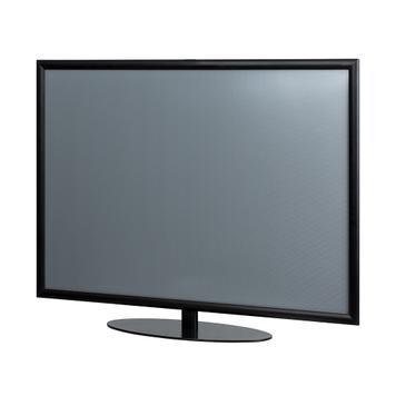 """Plakatständer """"Fernseh-Dummy"""", 25 mm Profil, Gehrungsecken, schwarz"""