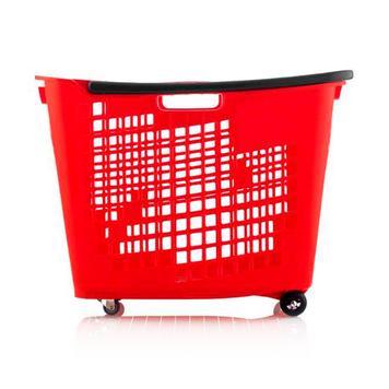 Einkaufskorb 55 Liter, zum Ziehen