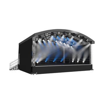 Bühne mit Rundbogendach